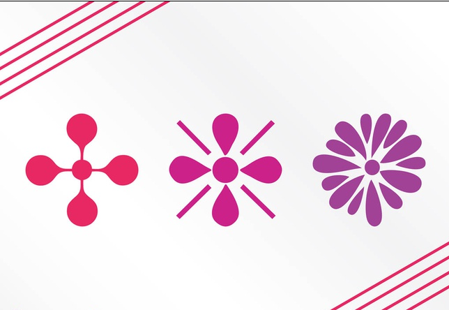 Floral Icons Graphics art vector