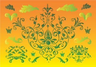 Floral Nature Graphics vectors material