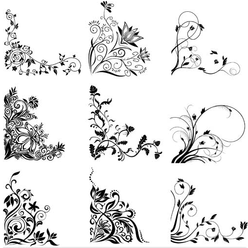 floral ornament corners vector free download floral ornament corners vector free