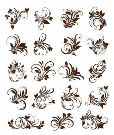 Floral Ornament Element Vector