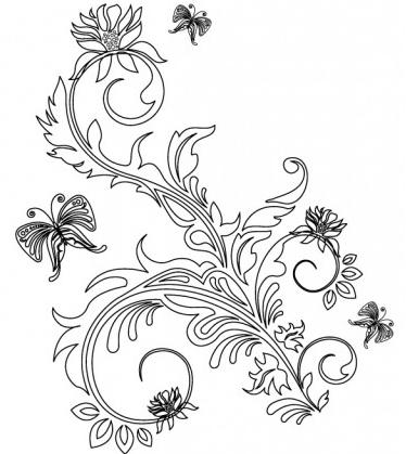 Floral Ornaments 2 vector