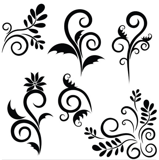 Floral Ornaments Elements vector material