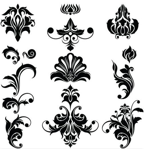 Floral Ornaments Elements 3 vector