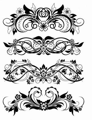 Floral Ornaments Vector Graphics