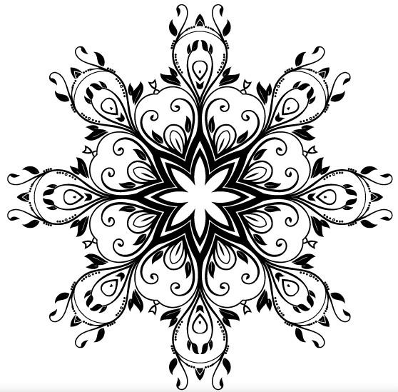Floral Ornate Decorative Vector vector