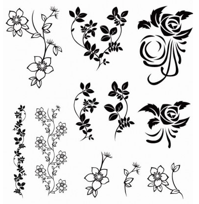 Floral Pack vector graphics