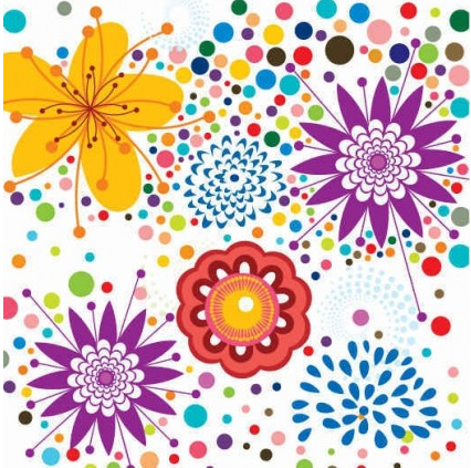 Floral Pattern Background Free design vector