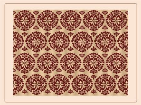 Floral Retro Wallpaper vector material