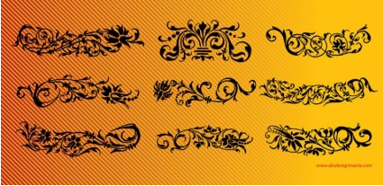 Floral Scrolls free vector graphics