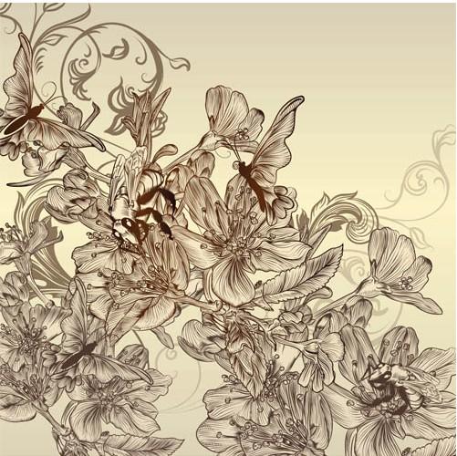 Floral Vintage Backgrounds art vector