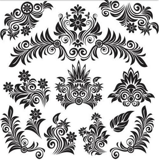 Floral Vintage free vector graphics