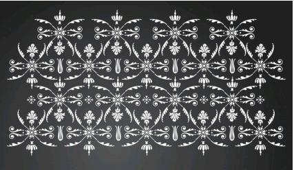 Floral Wallpaper free shiny vector