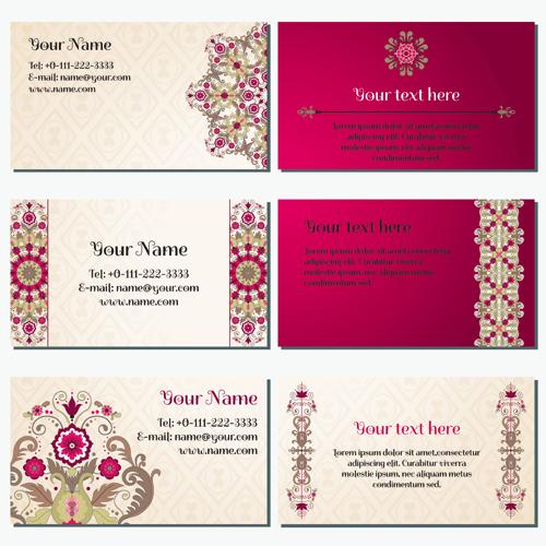 Floral business card 2 vectors