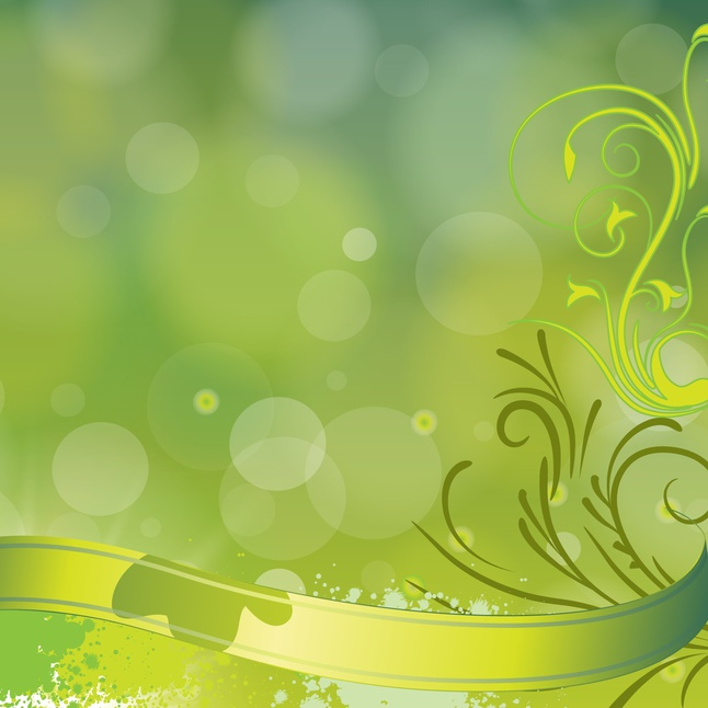 Floral green background art design vector