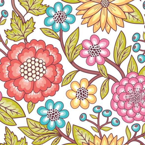 Floral Pattern 1 Set Vector Free Download