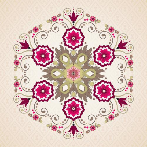 Floral patterns 4 vector