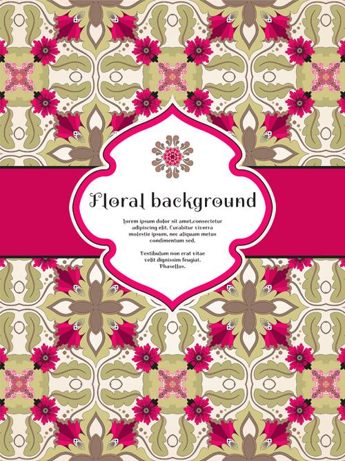 Florals backgrounds 1 vector