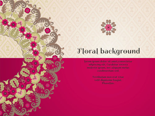 Florals backgrounds 20 vector