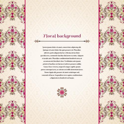 Florals backgrounds 5 vector