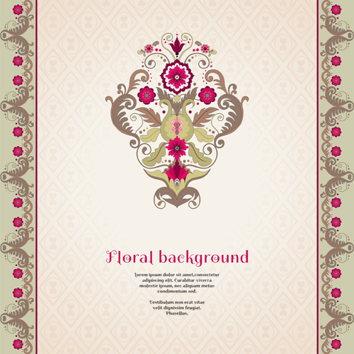 Floral s backgrounds 7 vector