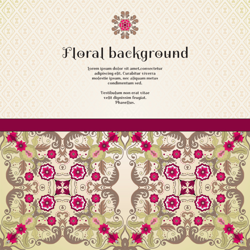 Florals backgrounds 9 vector