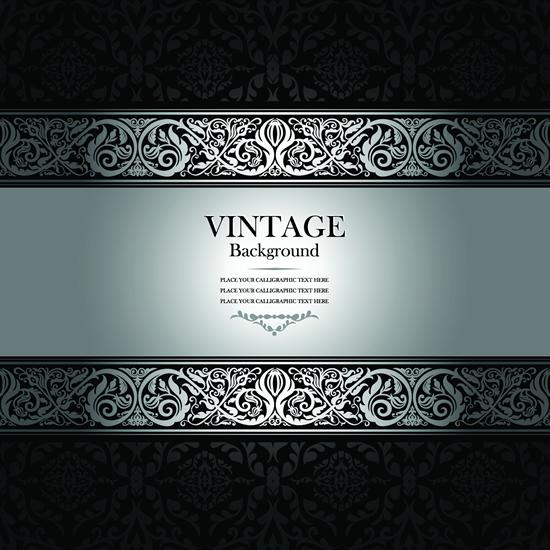 Floral vintage style background 1 vector set