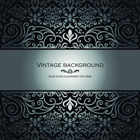 Floral vintage style background 3 vector