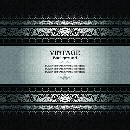 Floral vintage style background 4 vector design