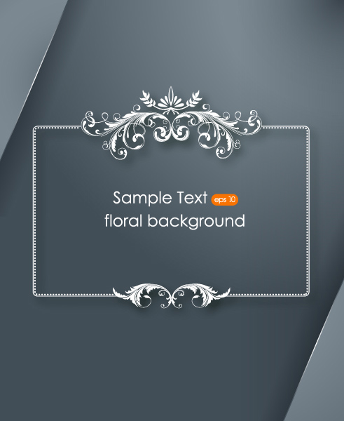 Floral with frames background 11 vector