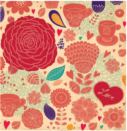 Flower Backgrounds graphic Illustration vector