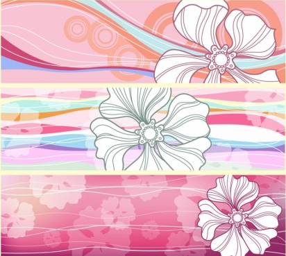 Flower Banners free vectors graphic