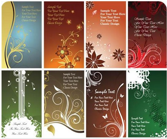 Flower Cards Luxury art vectors graphics