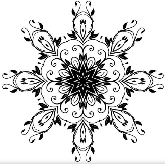 Flower Decoration Design vector