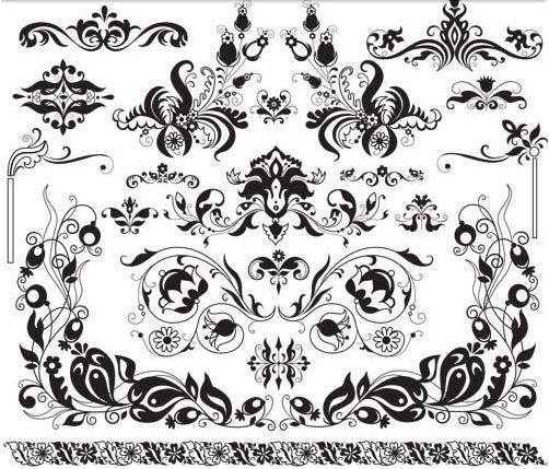 Flower Design free shiny vector
