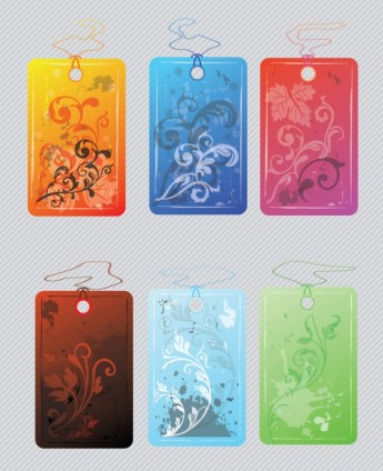 Flower Tags free vector