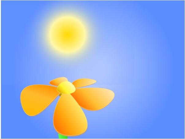 Flower Under Sun Image vector