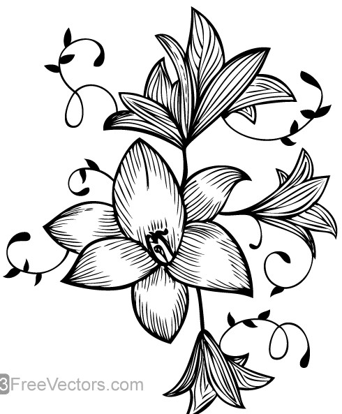Flower Graphic creative vector