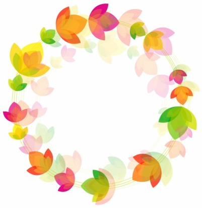 Flower circle background vector