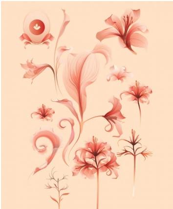 Flower free art vector