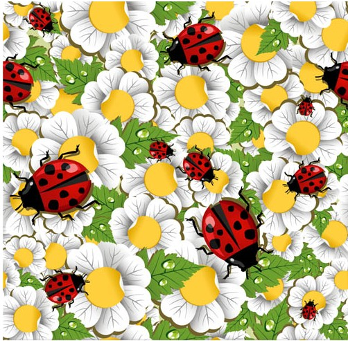 Flowers Backgrounds 3 Set Vector Free Download