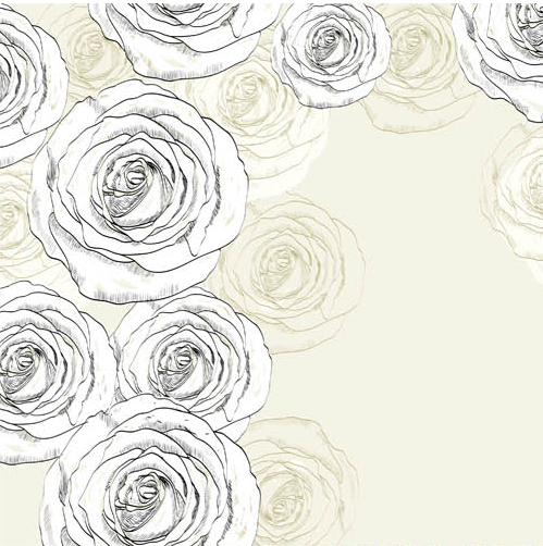 Flowers Backgrounds 6 set vector