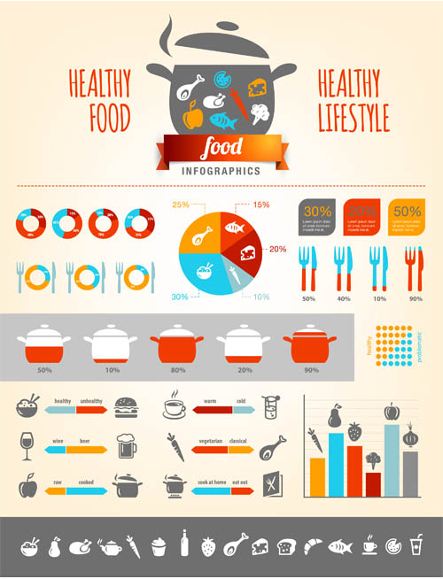 Food Infographics 2 Illustration vector