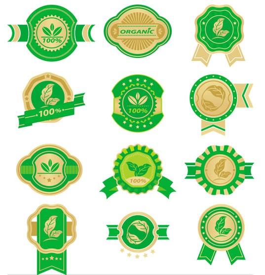 Food Retro Color Labels art vector