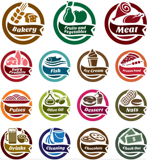 Food Symbols Set design vectors