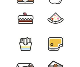 Food simple line icon vector