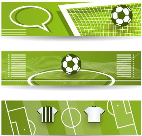 Football Bright Banners Illustration vector