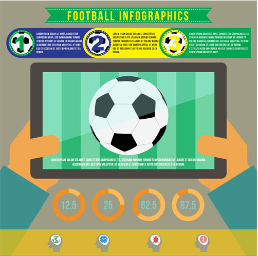 Football Infographics vector