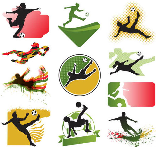 Football Labels free vector graphics