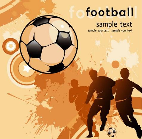 Football elements background vector