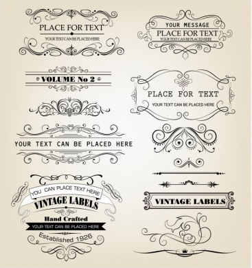 Frames and Scroll Elements vector